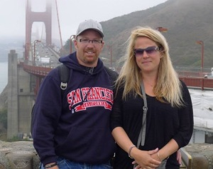Brent Kryzanowski and his wife on vacation in San Francisco.