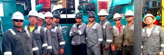 Trinidad Drilling rig crew