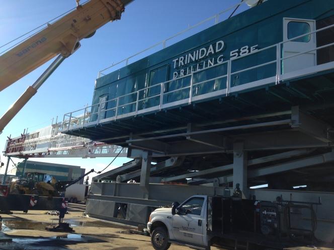 Trinidad Rig 58 being built in Nisku, Alta.