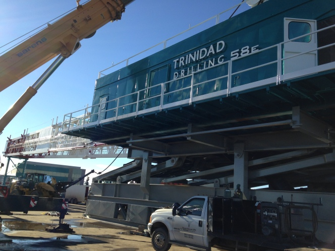 Trinidad Rig 58 being built in Nisku, Alta.