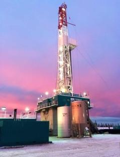 5. Alberta's wintry sky behind Rig 39.
