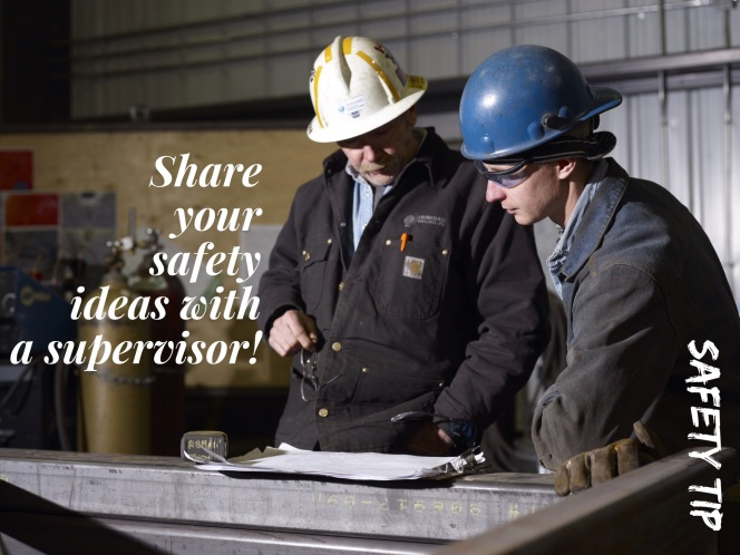 Trinidad Drilling safety tip: Share your safety ideas