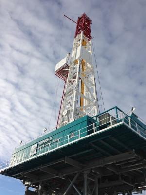 Trinidad Drilling's Rig 58 in Nisku, Alberta.