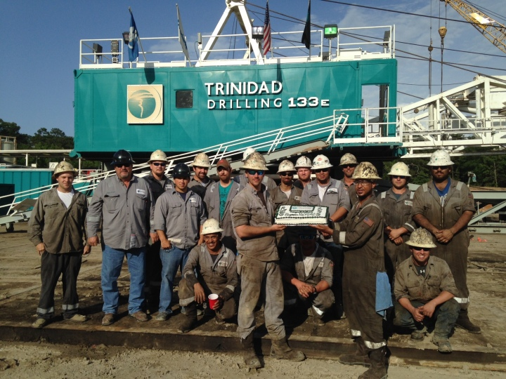 The crew of Trinidad Rig 133 celebrates five years without an incident.