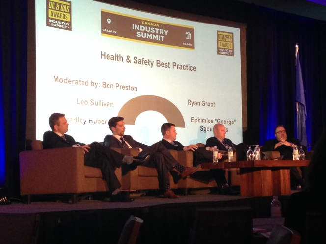 Trinidad Drilling's Bradley Huber discusses health and safety best practices at the Oil and Gas Awards Industry Summit.