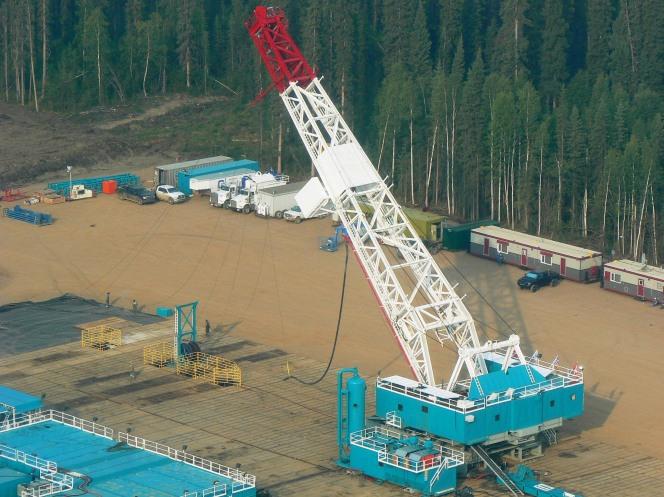Trinidad Drilling's Rig 56 in Western Canada.