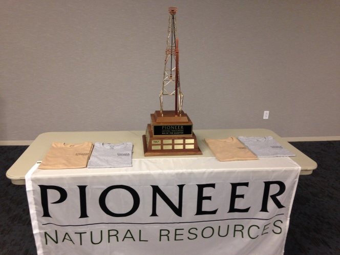Trinidad Drilling's Rig 134 wins Pioneer's Rig of the Quarter award.
