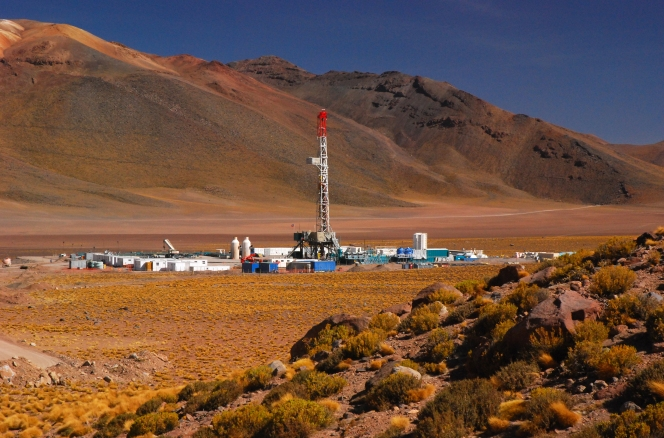Trinidad Drilling rig in Chile