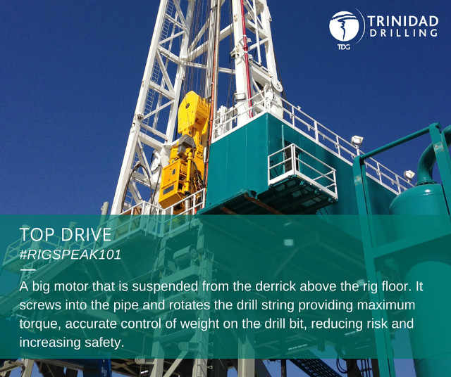 Rig word of the day: top drive