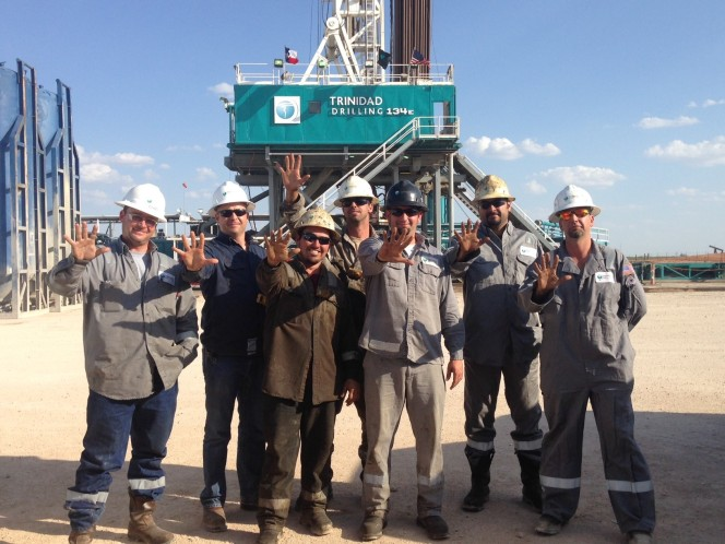 Trinidad Drilling Rig 134 celebrates 5 years incident free