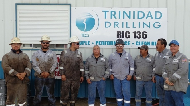Trinidad Drilling Rig 136 celebrates 5 years incident free