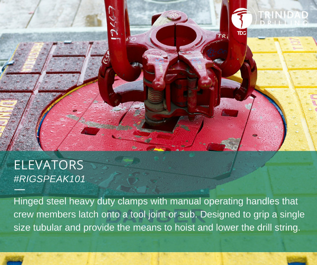 Rig word of the day: elevators