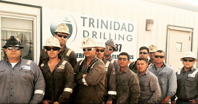 Trinidad Drilling Rig 137 Record Drill Crew