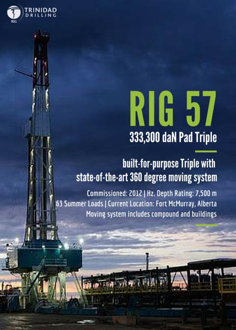 Trinidad Drilling Rig 57 Profile