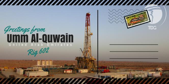 Postcard from Umm Al-Quwain Trinidad Drilling Rig 602