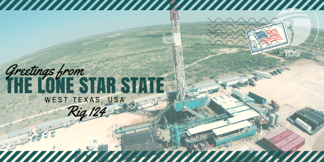 Rig Postcard from West Texas Trinidad Drilling Rig 124