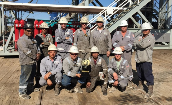 Trinidad Drilling Rig 140 crew July 2016