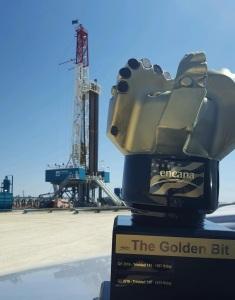 Trinidad Drilling Rig 140 Golden Bit Award from Encana Q2 July 2016