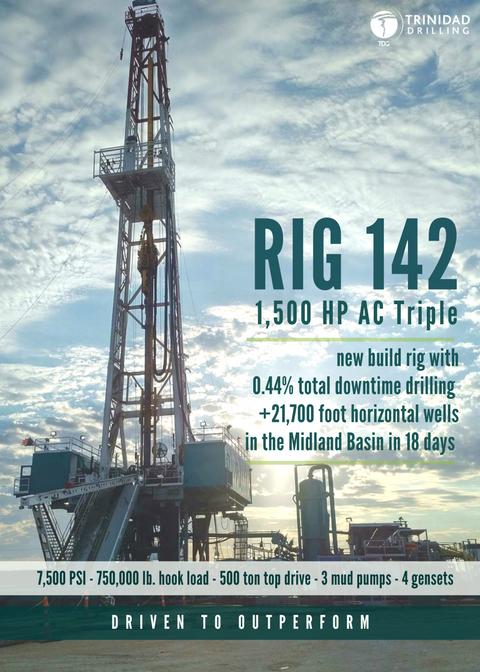 Trinidad Drilling Rig 142 Profile