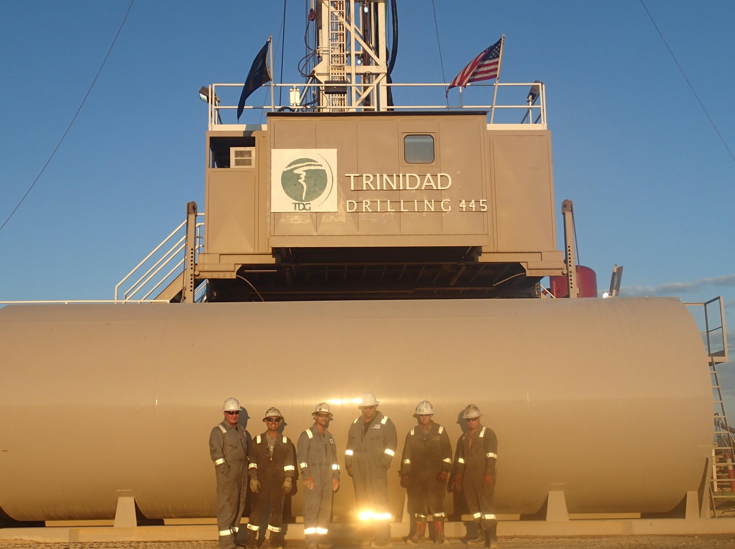 Trinidad Drilling Rig 445 and crew