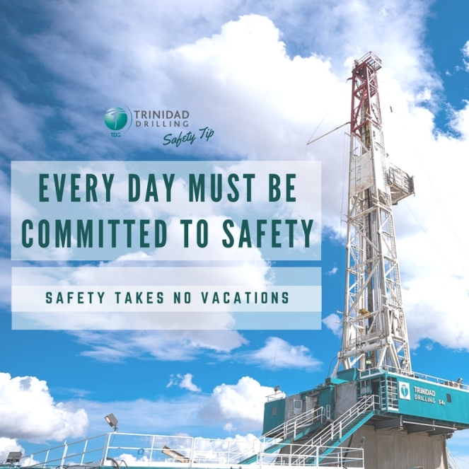 Trinidad Drilling Rig Safety Tip - every-day-must-be-committed-to-safety-blg