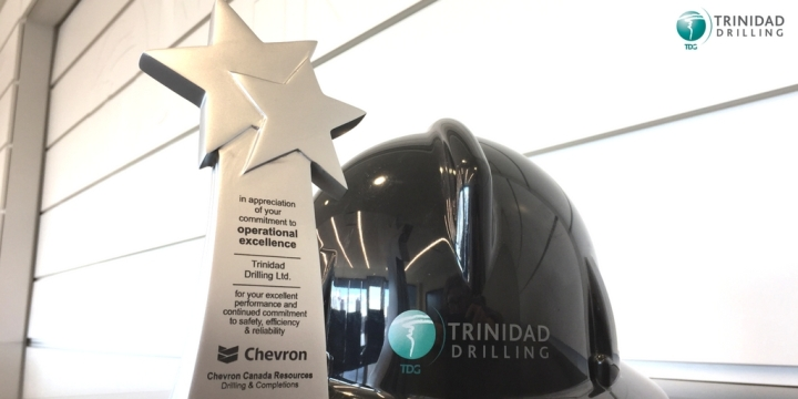 Trinidad Drilling Rig 58 receives Chevron Canada's 2016 award of operational excellence