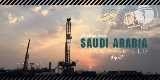 Trinidad Drilling Rig Postcard Rig 127 South Ghawar Field Saudi Arabia
