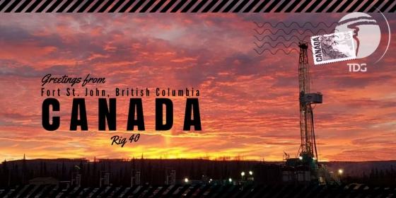 Trinidad Drilling Rig Postcard Trinidad Rig 40