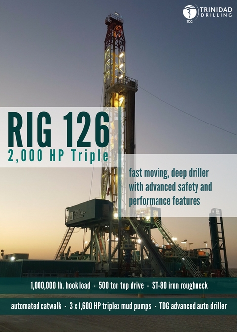 Trinidad Drilling Rig Profile Rig 126
