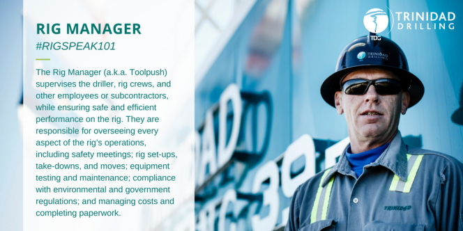 Drilling Rig Manager or Toolpush